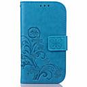 お買い得  携帯電話ケース-ケース 用途 Samsung Galaxy S7 edge / S7 / S6 edge plus ウォレット / カードホルダー / スタンド付き フルボディーケース フラワー PUレザー