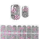 billiga Heltäckande nagelklistermärken-vackra svart korea diy diamant 3d spik klistermärken