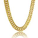Χαμηλού Κόστους Μοδάτο Κολιέ-Ανδρικά Κολιέ με Αλυσίδα Mariner Αλυσίδα Εξατομικευόμενο Ντουμπάι Χιπ χοπ Επιμεταλλωμένο με Πλατίνα Επιχρυσωμένο Γέμιση χρυσού Χρυσαφί Κολιέ Κοσμήματα Για Δώρο Καθημερινά Causal Αθλητικά Παραλία