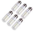 billige Magnetisk blokk-YouOKLight 6pcs 15 W LED-kornpærer 1350 lm E14 E26 / E27 T 56 LED perler SMD 5730 Dekorativ Varm hvit Kjølig hvit 220-240 V 110-130 V / 6 stk. / RoHs