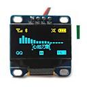 """Χαμηλού Κόστους Αξεσουάρ Παιχνιδιών Smartphone-0.96 """"ιντσών κίτρινο και μπλε i2c IIC σειριακό 128x64 OLED οθόνη LCD OLED οδήγησε λειτουργική μονάδα για Arduino οθόνη 51 msp420 stim32"""