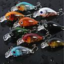 ราคาถูก ผมต่อแท้-8 pcs ที่ลวงตาในเบ็ด Crank Sinking Bass ปลาเทราท์ หอก เบทคาสติ้ง ปลาน้ำจืด เหยื่อตกปลา พลาสติก