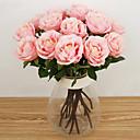 ราคาถูก ดอกไม้ประดิษฐ์-ดอกไม้ประดิษฐ์ 1 สาขา รูปแบบสไตล์ยุโรป กุหลาบ ดอกไม้วางบนโต๊ะ