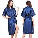 billiga Badrockar-m dam silke satin pyjamas underkläder nattkläder kimono klänning nattlinne lång mantel