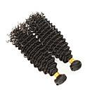 billiga Hårförlängningar av äkta hår-3 paket Brasilianskt hår Vågigt Human Hår vävar Hårförlängning av äkta hår Människohår förlängningar / 8A