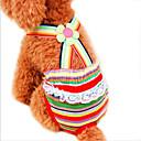 billiga Building Blocks-Katt Hund Byxor Hundkläder Regnbåge Kostym Cotton Rand Cosplay Bröllop XS S M L XL XXL