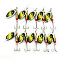 billiga Reseprodukter för hunden-10 pcs Fiskbete Spinnfluga Skedar Sjunker Fastsjunkande Bass Forell Gädda Sjöfiske Färskvatten Fiske Andra Fjäder Metall / Drag-fiske / Generellt fiske