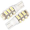 povoljno LED Bi-pin svjetla-T10 w5w 168 194 pokazivača smjera svjetlost strana klin žarulja žarulja bijela 28 SMD LED svjetla (12V, 2 kom)