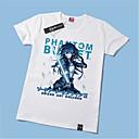 billiga Set med cykeltröjor och shorts/byxor-Inspirerad av SAO Alicization Kirito Animé Cosplay-kostymer Japanska Cosplay T-shirt Tryck Kortärmad T-shirt Till Herr / Dam