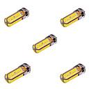 ราคาถูก เพชรประดับและของตกแต่ง-YWXLIGHT® 5pcs 10 W หลอดเสียบคู่ LED 800-1000 lm G4 T 72 ลูกปัด LED SMD 5730 ตกแต่ง ขาวนวล ขาวเย็น 12 V 24 V / 5 ชิ้น / RoHs