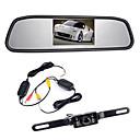 """billiga Parkeringskamera för bil-4,3 """"tft LCD-bildskärm bakre kabeldragningar 170 ° backkamera-kit nattvision"""
