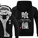 billiga Anime-huvtröjor och sweatshirts-Inspirerad av Tokyo Ghoul Ken Kaneki Animé Cosplay-kostymer Japanska cosplay Pull Tryck Långärmad Topp Till Herr / Dam