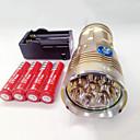 billiga Ficklampor-LED-Ficklampor Vattentät Uppladdningsbar 9600lm LED LED 8 utsläpps 3 Belysning läge med batterier och laddare Vattentät Uppladdningsbar Nattseende Camping / Vandring / Grottkrypning Vardagsanvändning