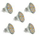 billige Spotlys med LED-1.5 W LED-spotpærer 130-150 lm GU4(MR11) MR11 12 LED perler SMD 5730 Dekorativ Varm hvit 12 V / 5 stk. / RoHs