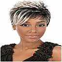 ราคาถูก สายไฟ LED-วิกผมสังเคราะห์ Straight ความหงิก ความหงิก ตรง ผมปลอม Short สีเทา สังเคราะห์ 6 inch สำหรับผู้หญิง วิกผมแอฟริกันอเมริกัน Gray hairjoy