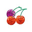 billiga 3D-pussel-Pussel Kristallpussel Byggblock GDS-leksaker Körsbär ABS Silver Röd Modell- och byggleksak