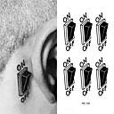 Χαμηλού Κόστους Προσωρινά Τατουάζ-1 pcs προσωρινή Τατουάζ Αδιάβροχη Πρόσωπο / τα χέρια / brachium PVC Αυτοκόλλητα Τατουάζ / Waterproof