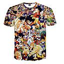 povoljno Cosplay za svaki dan-Inspirirana Dragon Ball Son Goku Anime Cosplay nošnje Japanski Cosplay majica Na točkice / Print Kratkih rukava T-majica Za Muškarci