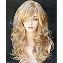 billiga Kostymperuk-Syntetiska peruker Vågigt Vågigt Peruk Blond Lång Blond Syntetiskt hår Dam Blond StrongBeauty