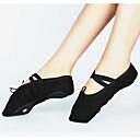 baratos Roupas de Balé-Mulheres Sapatos de Dança Lona Sapatilhas de Balé Cadarço Têni Salto Personalizado Personalizável Preto / Vermelho / Rosa claro / Ensaio / Prática / EU40