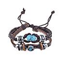 billiga Modehalsband-Herr Armband av Remmar Läder Armband vävd Unik design Vintage Mode Paracord Armband Smycken Kaffe Till Julklappar Party Dagligen Casual