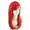 povoljno Modne ogrlice-Sintetičke perike Wavy Stil Asimetrična frizura Capless Perika Crvena Sintentička kosa Žene Prirodna linija za kosu Crvena Perika Srednja dužina Dug