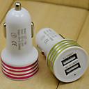 billiga Laddare för bilen-Billaddare USB-laddare Flera portar 2 USB-portar 2.1 A / 1 A DC 12V-24V för
