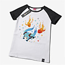 billiga Anime-huvtröjor och sweatshirts-Inspirerad av Vocaloid Hatsune Miku Animé Cosplay-kostymer Japanska Cosplay T-shirt Tryck Kortärmad T-shirt Till Herr / Dam