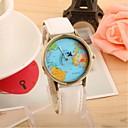 Χαμηλού Κόστους Κρεμαστό με Αλυσίδα-Γυναικεία Ανδρικά Για Ζευγάρια Μοδάτο Ρολόι Χαλαζίας Καθημερινό Ρολόι Ύφασμα Μπάντα Παγκόσμιος Χάρτης PatternΜαύρο Λευκή Μπλε Κόκκινο