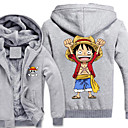 povoljno Cosplay za svaki dan-Inspirirana One Piece Monkey D. Luffy Anime Cosplay nošnje Japanski cosplay Hoodies Print Dugih rukava Top Za Muškarci