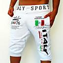 ราคาถูก รองเท้าและอุปกรณ์เสริม-สำหรับผู้ชาย ซึ่งทำงานอยู่ / พื้นฐาน Sport สุดสัปดาห์ รีแล็กซ์ / กางเกงวอร์ม / กางเกงขาสั้น กางเกง - ลายตัวอักษร ลายพิมพ์ สีดำ ฟ้า เทาอ่อน L XL XXL