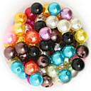 billige Tråd og ståltråd-DIY Smykker 200 Perler Akryl ABS plast Rosa Gylden Lys Grønn Regnbue Krystall Rund Rund form Perlene 1 DIY Halskjeder Armbånd