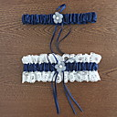 billige Strømpebånd til bryllup-Polyester Klassisk Bryllupsklær Med Blonder / Blomst Strømpebånd