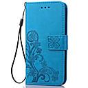 ราคาถูก กล้องส่องทางไกล กล้องดูดาว และกล้องโทรทัศน์-Case สำหรับ Samsung Galaxy S5 Mini / S4 Mini / S3 Mini Wallet / Card Holder / with Stand ตัวกระเป๋าเต็ม ดอกไม้ Soft หนัง PU
