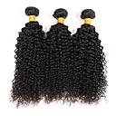 Χαμηλού Κόστους Εξτένσιος μαλλιών με φυσικό χρώμα-3 δεσμίδες Βραζιλιάνικη Kinky Curly Σγουρή ύφανση Αγνή Τρίχα Υφάνσεις ανθρώπινα μαλλιών Φύση Μαύρο Υφάνσεις ανθρώπινα μαλλιών Hot Πώληση Επεκτάσεις ανθρώπινα μαλλιών / 10A / Kinky Σγουρό