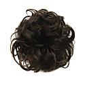 Χαμηλού Κόστους Αλογοουρές-Συνθετικές Περούκες Σινιόν Σγουρά Κλασσικά Κλασσικό Σγουρά Κούρεμα με φιλάρισμα Περούκα Κοντό Σκούρο καφέ Συνθετικά μαλλιά Γυναικεία Updo