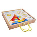 billiga Läsleksaker-magnetiska träklossar ritbordet, färg stereo pussel, barns eeducational leksaker