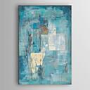 billige Abstrakte malerier-håndmalte abstrakte malerier lerretskunst minimalistisk maleri turkisblått abstrakt akrylmaleri moderne kunst industriell teksturert kunst