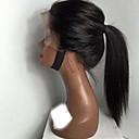 billige Hairextension med naturlig farge-Ekte hår Ubehandlet Menneskehår Helblonder uten lim Halvblonder uten lim Helblonde Parykk Med hestehale stil Brasiliansk hår Rett Kinky Curly Parykk 130% Hair Tetthet med baby hår Naturlig hårlinje
