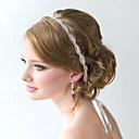 billige Hår Smykker-fulle krystall blomst håndlaget bånd satin snøre på hodebånd for bryllupsfesten dame hår smykker