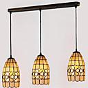 billiga Hängande belysning-3-Light Hängande lampor Fluorescerande Rektangulär Metall Snäcka / Skal Ministil 110-120V / 220-240V Glödlampa inte inkluderad / E26 / E27