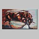 ราคาถูก ภาพวาดคน-ภาพวาดสีน้ำมันแขวนทาสี มือวาด - สัตว์ต่างๆ ที่ทันสมัย พร้อมเฟรม