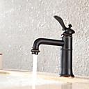ราคาถูก วิกผมจริง-ก๊อกน้ำอ่างล้างจานห้องน้ำ - น้ำตก ทองแดงขัดน้ำมัน ตัวเจาะนำศูนย์ จับเดี่ยวหนึ่งหลุมBath Taps / Brass