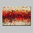 billiga Abstrakta målningar-Hang målad oljemålning HANDMÅLAD - Abstrakt Moderna Med Ram / Sträckt kanfas