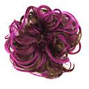 Χαμηλού Κόστους Wind-up παιχνίδια-Συνθετικές Περούκες Σινιόν Κλασσικά Κλασσικό Κομψό & Μοντέρνο Κούρεμα με φιλάρισμα Περούκα Κοντό Μωβ Συνθετικά μαλλιά Γυναικεία Updo Καφέ / Σγουρά