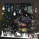 Χαμηλού Κόστους Christmas Stickers-Window Film & αυτοκόλλητα Διακόσμηση Χριστούγεννα Art Deco PVC / Vinyl Αυτοκόλλητο παραθύρου