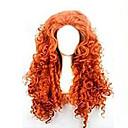 billiga Kostymperuk-Cosplay Peruker Syntetiska peruker Lockigt Kinky Curly Löst vågigt Sexigt Lockigt Lockigt Asymmetrisk frisyr Peruk Lång Röd Syntetiskt hår 25 tum Dam Naturlig hårlinje Röd