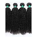 povoljno Ekstenzije od prave kose prirodne boje-4 paketića Brazilska kosa Kinky Curly Virgin kosa Ljudske kose plete Isprepliće ljudske kose Proširenja ljudske kose / 10A