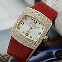 billiga Ankelkedja-Dam Armbandsur Diamond Watch Square Watch Quartz Svart / Vit / Röd Diamant Imitation Ramtyp damer Mode Elegant - Brun Röd Rosa Ett år Batteriliv / Tianqiu 377
