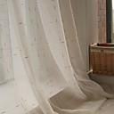 ราคาถูก ม่านปรับแสง-ออกแบบเอง เด็ก / วัยรุ่น เฉดสีผ้าม่านเชียร์ สองช่อง 2*(W183cm×L213cm) สีเงิน / วิธีลงลวดลายลงในเนื้อผ้า / Living Room
